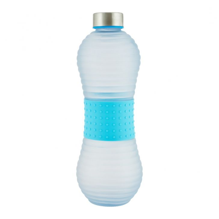 Serene 1000 ml Glass Bottle in Blue,Pink Colour by Living Essence