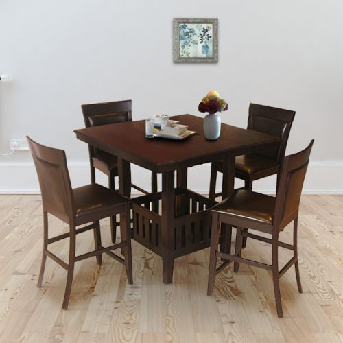 622032680 Buy Caren Solid Wood Four Seater Dining Set in Cappuchino Colour by  HomeTown Online at Best Price - HomeTown.in
