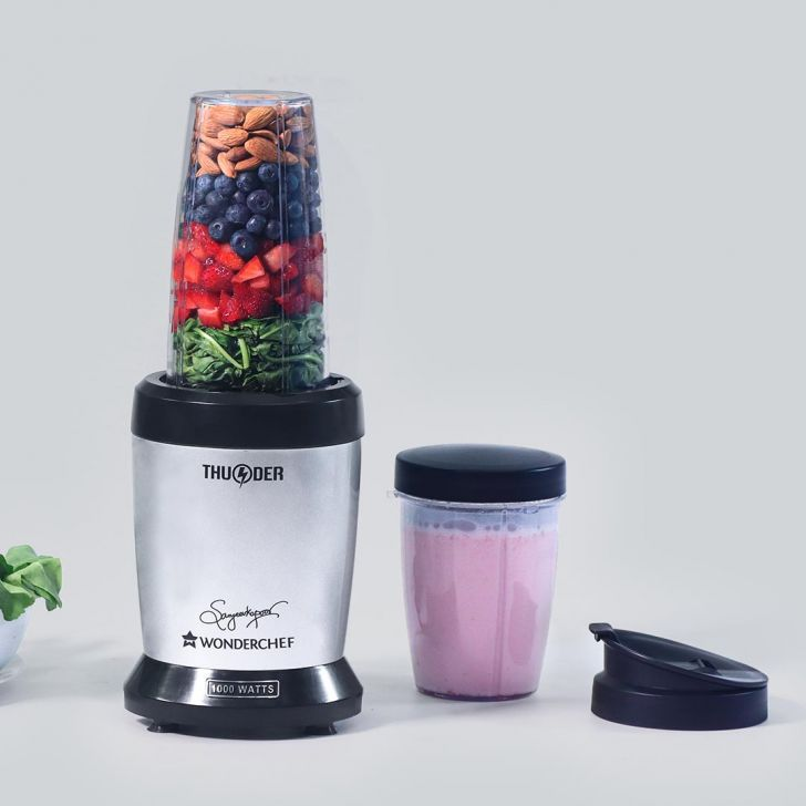 Nutri Blend Thunder 1 Motor, 2 Jar, 1 Blade, 1 Sipper Lid in Silver and Black Colour