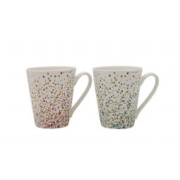 fcaf81fdbfa Twilight Set Of Two Mugs Ceramic Coffee Mugs in Multicolor & Gold Colour by  HomeTown