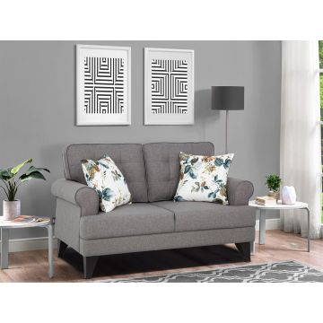 Paddington Fabric Two Seater Sofa in Grey Colour by HomeTown