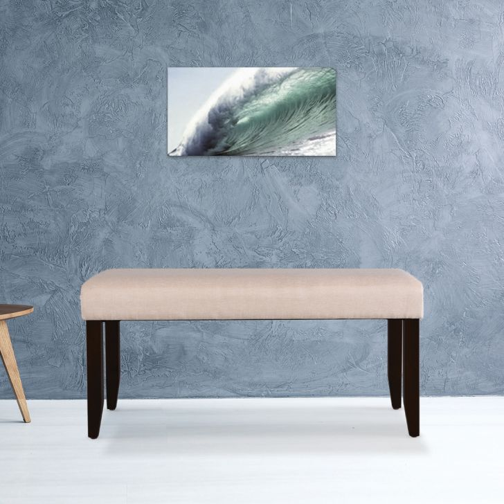 Flexi Solid Wood Four Seater Bench in Cappuccino Colour by HomeTown
