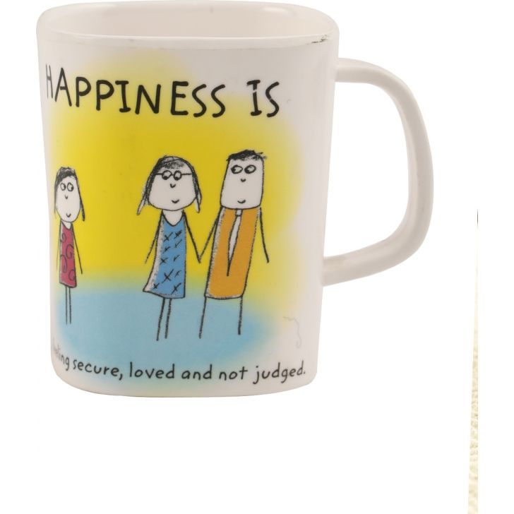 Servewell Happiness Glass Epic Mug in Multi Colour by Multiple