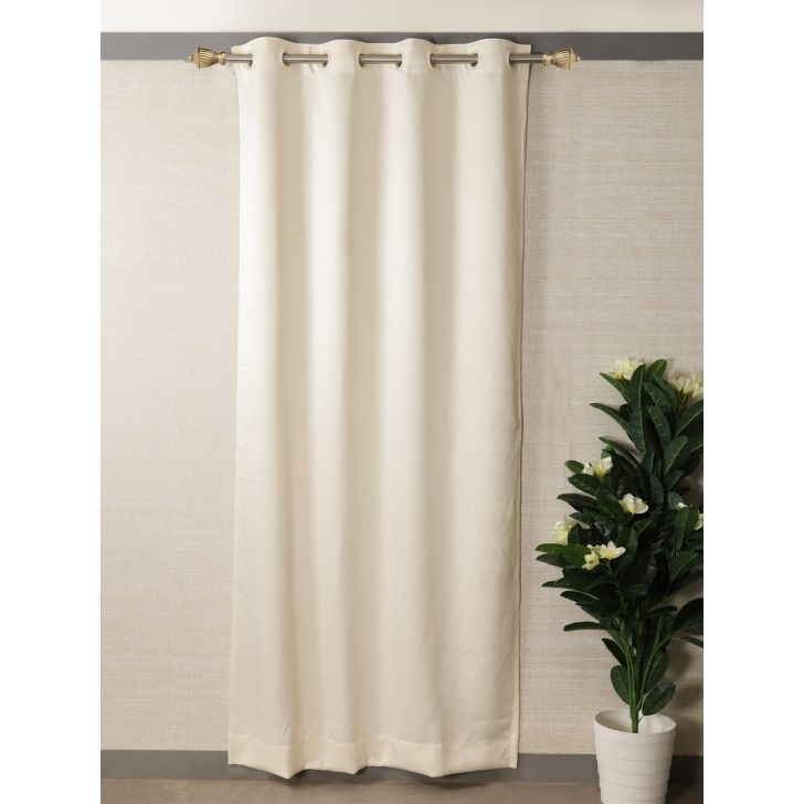 Houzzcode Sunheal Polyester Door Curtain 117 x 229cm in Off White Colour