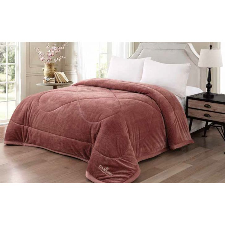 Chevron Polyester Double Comforter in  Colour by Cannon