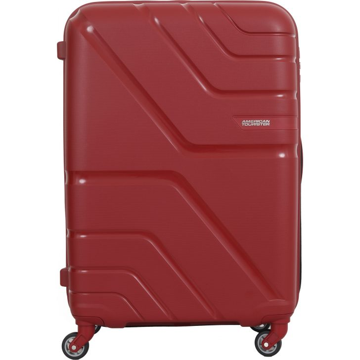 American Tourister Upland Spinner Hard Trolley  79 Cm (Deep Red)