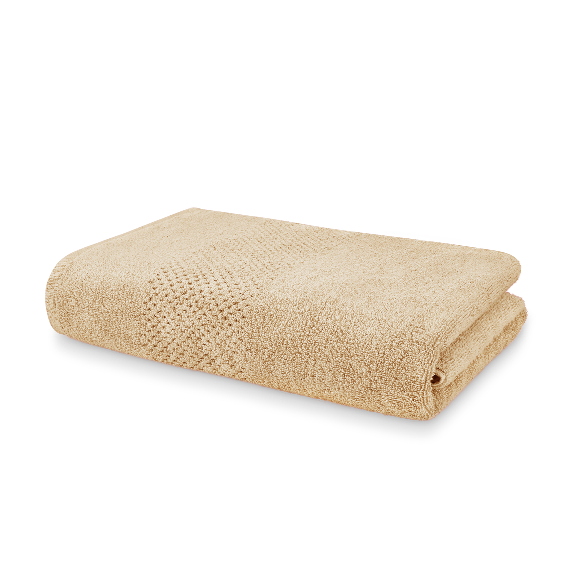 Spaces Atrium Cotton Double Bed Sheets in Camel Colour by Spaces