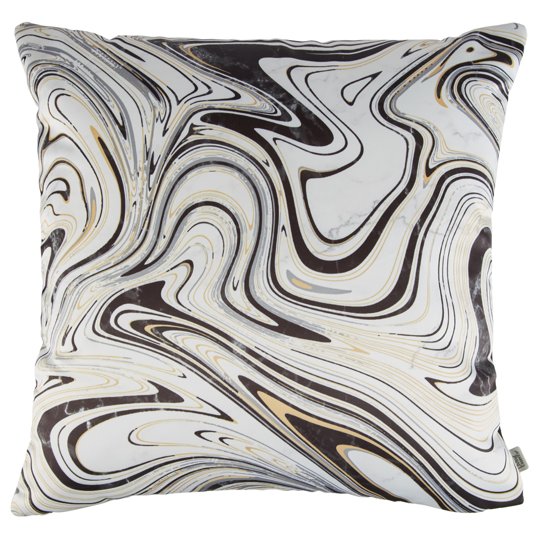 Digital Cushion Cover Marble Cushion Covers in Poly Satin Colour by Living Essence