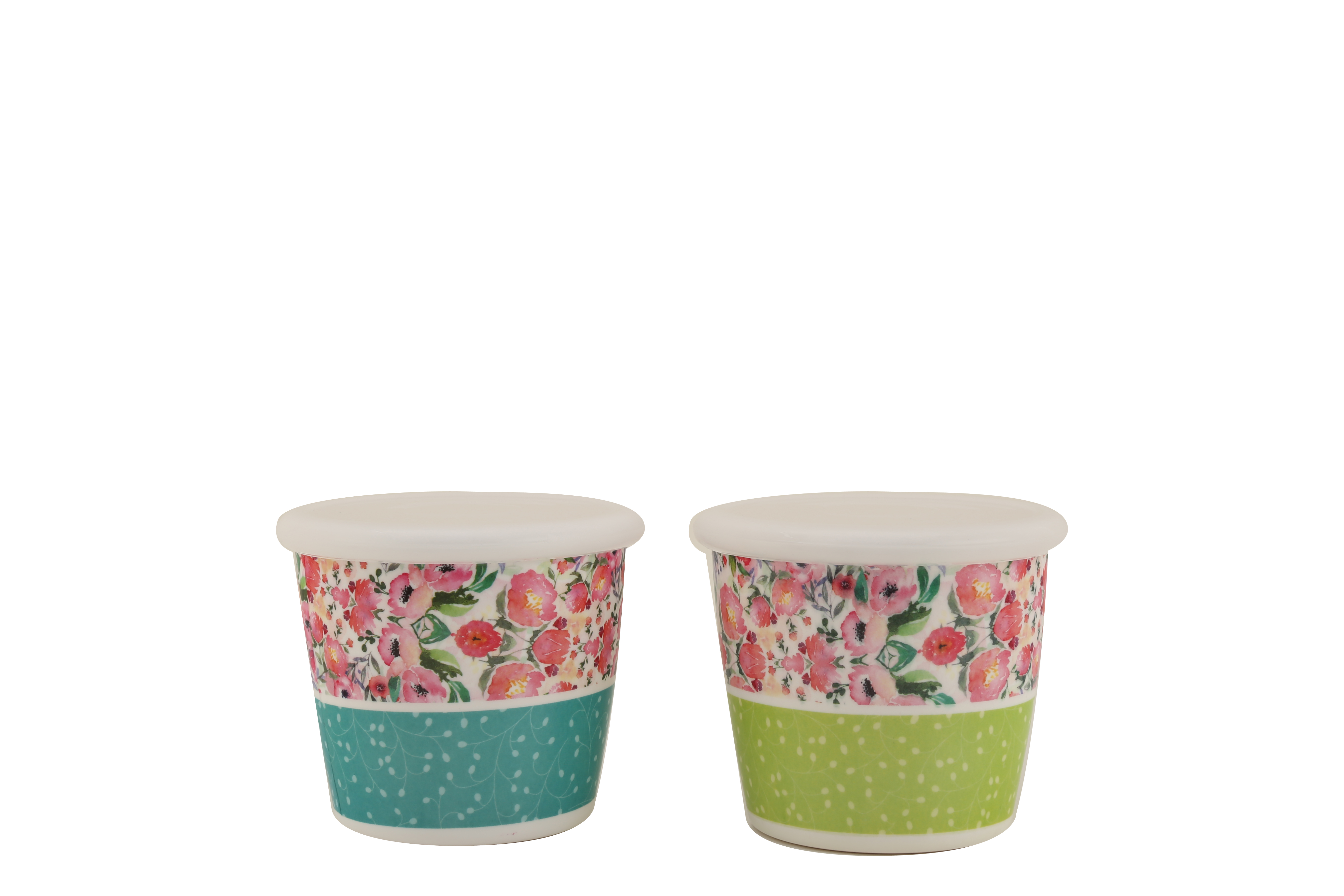Blossom Jars Set Of 2 Food Grade Melamine Canisters & Jars in Multicolor Colour by HomeTown