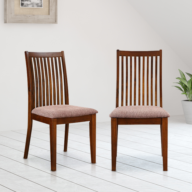 Metro Solid Wood Dining Chair Set of Two in Esspresso Colour by HomeTown