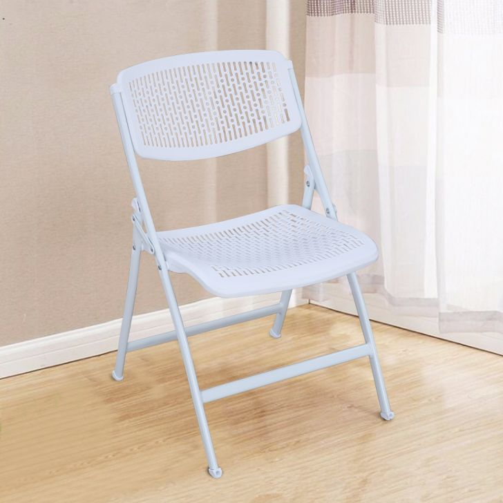 Venus Plastic Folding Chair in White Colour by HomeTown