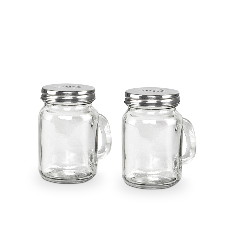 Living Essence Stainless steel Salt & Pepper in Silver & Clear Colour by Living Essence