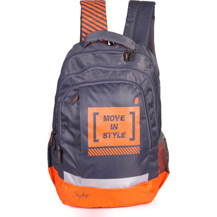 Skybags Pluto 02 Backpack (Grey)