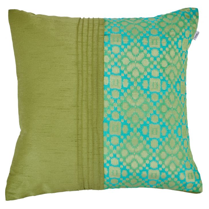 Napa Brocade Cushion Cover Polyester Cushion Covers in Citron Colour by Living Essence