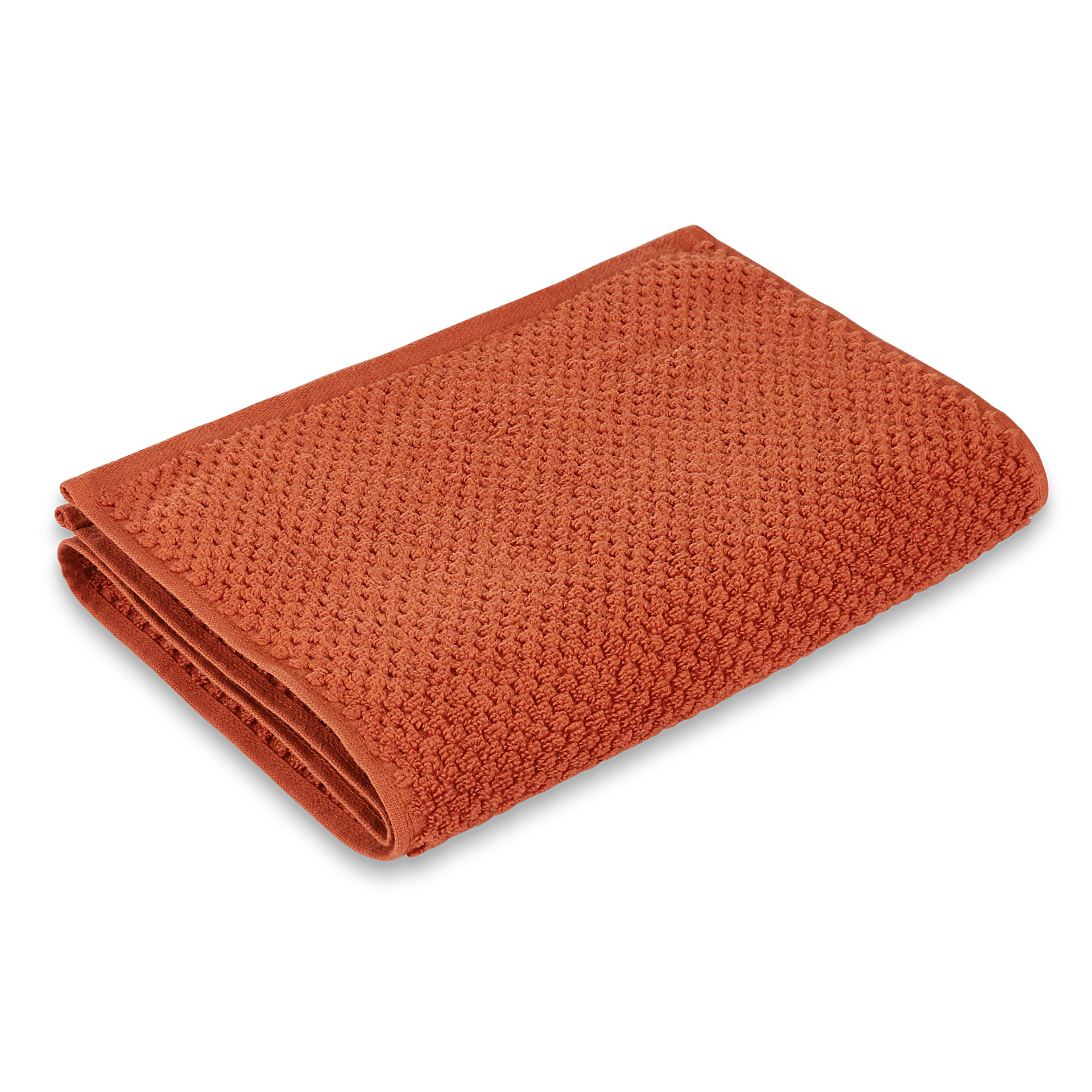 Spaces Atrium Cotton Double Bed Sheets in Rust Colour by Spaces