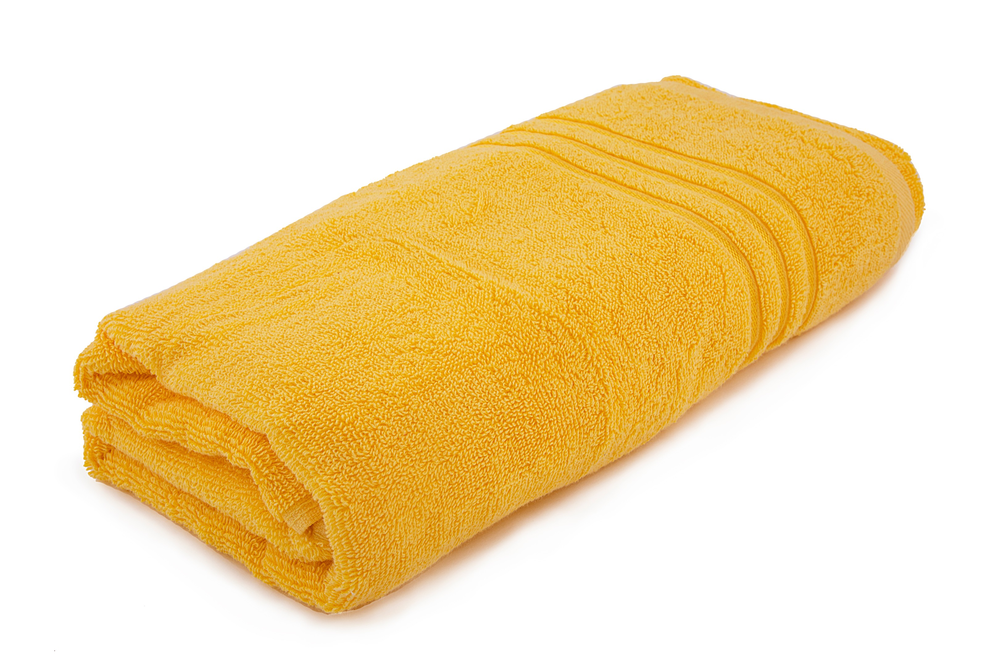 Bath Towel Nora Yellow Cotton Bath Towels in Nora Yellow Colour by HomeTown