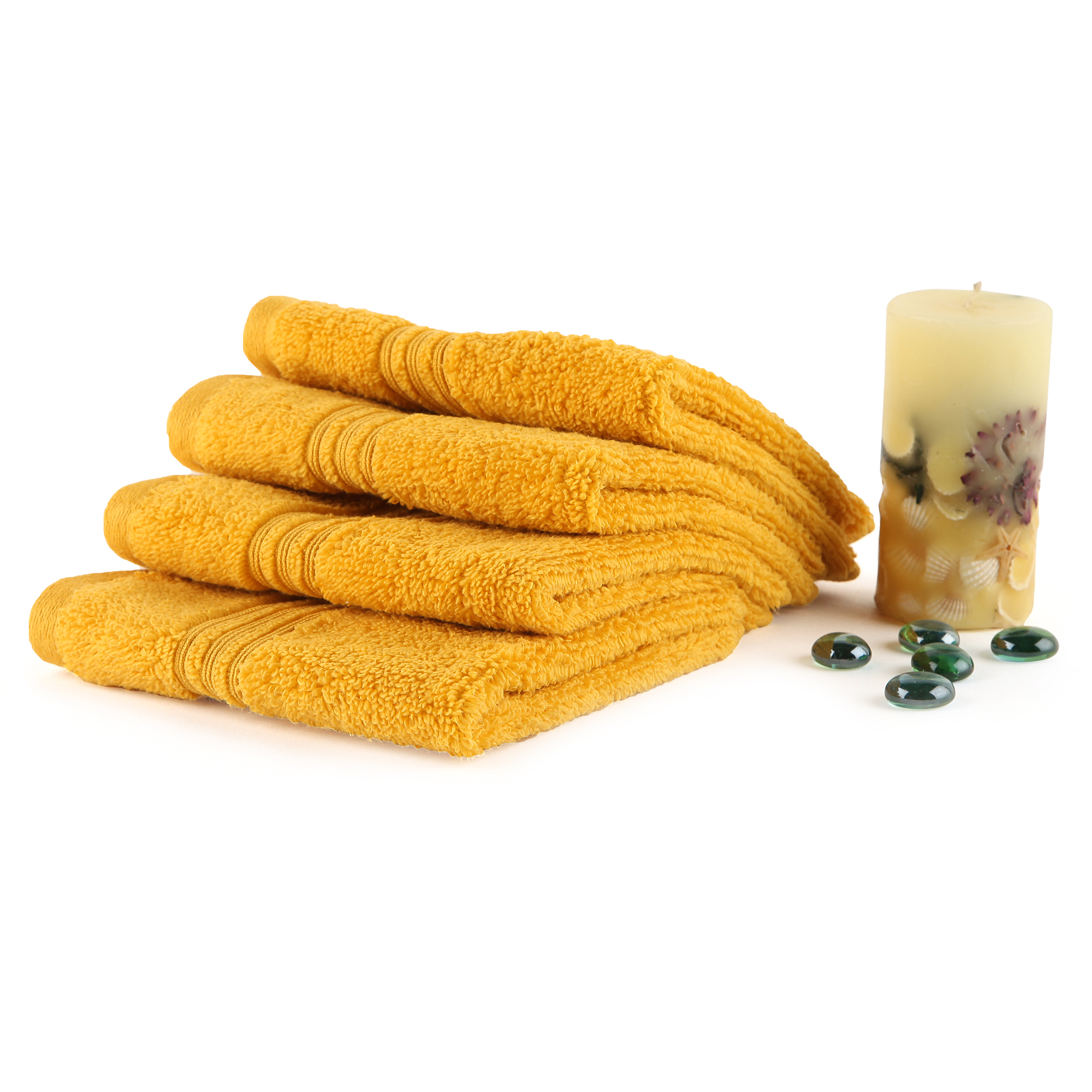 Spaces Swift Dry Set 4 Cotton Face Towel Cotton Towel Sets in Multicolour Colour by Spaces