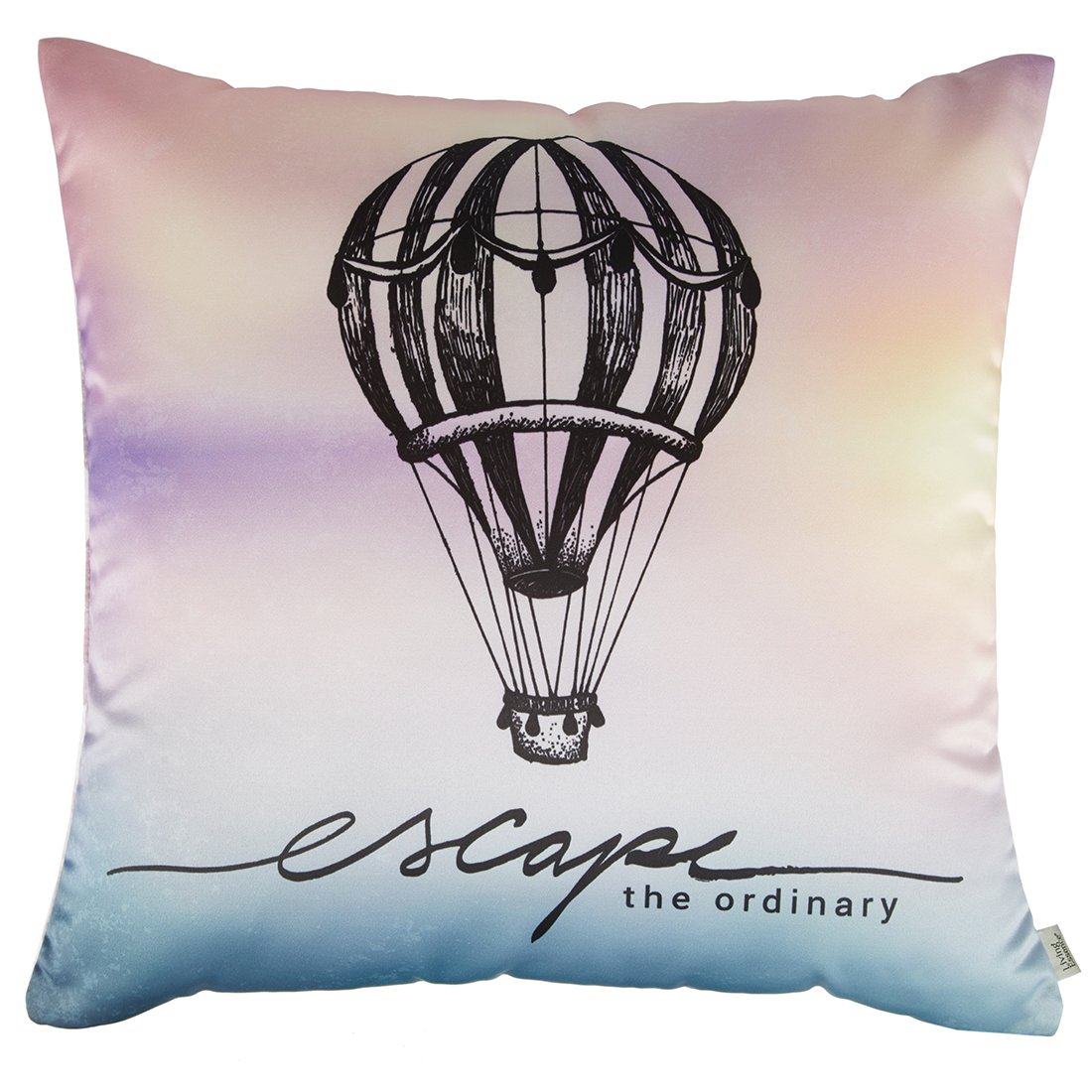 Digital Cushion Cover Parachute Cushion Covers in Poly Satin Colour by Living Essence