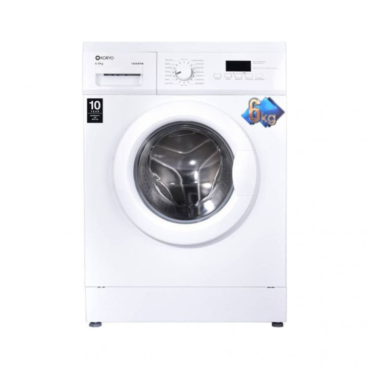 Koryo 6Kg Fully Automatic Front Load Washing Machine KMW1060FL in White Colour by Koryo