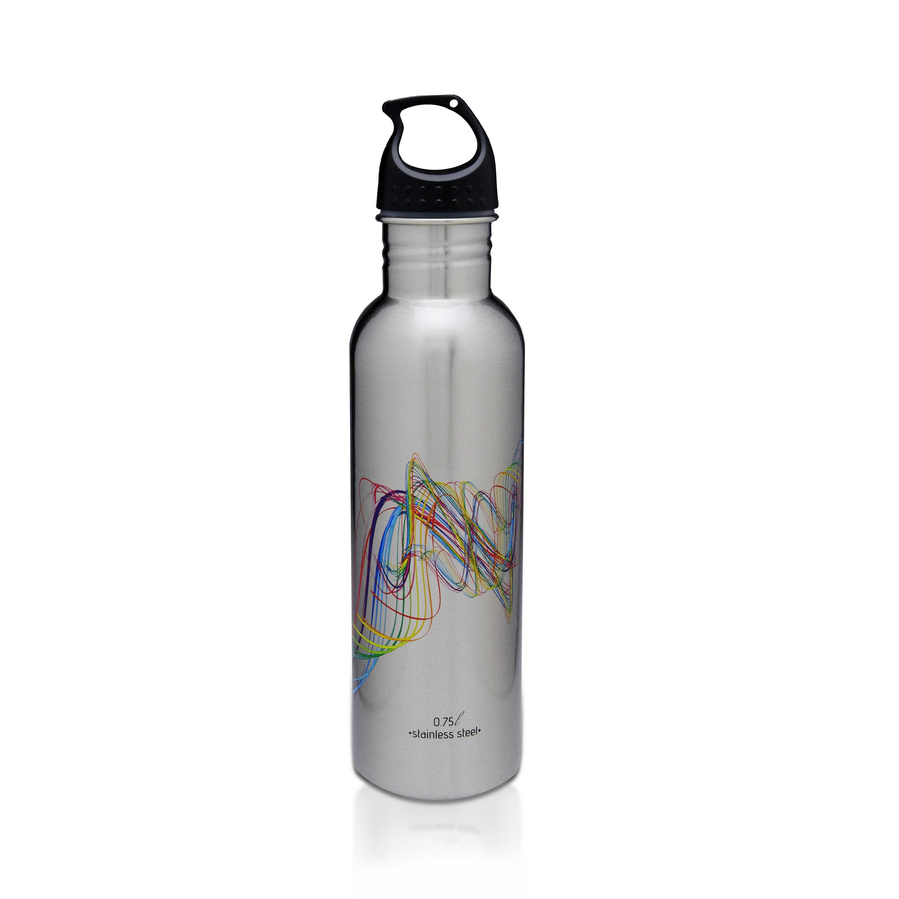 Hot Muggs Classic Medium Steel 750 ml, 1 Stainless steel Steel Bottles in Stainless Steel (Silver) + Multi Colour And Graphic Colour by HotMuggs