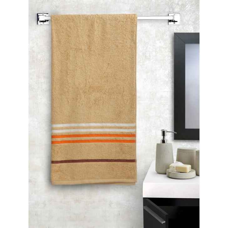 Portico New York Tiara Bath Towel 150 cms x 75 cms in Frappe Beige Color by Portico