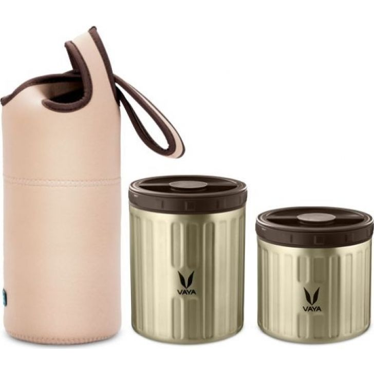Simba Theme Stainless Steel Preserve Lunch Kit ( 300 ml + 500 ml) in Graphite Colour by Vaya