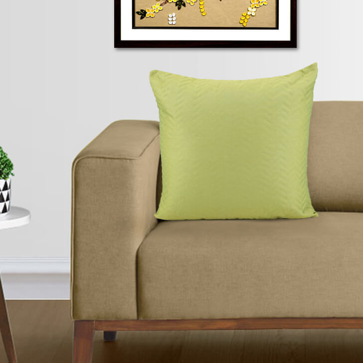 Argos Green Polyester Cushion Covers in Green Colour by Living Essence