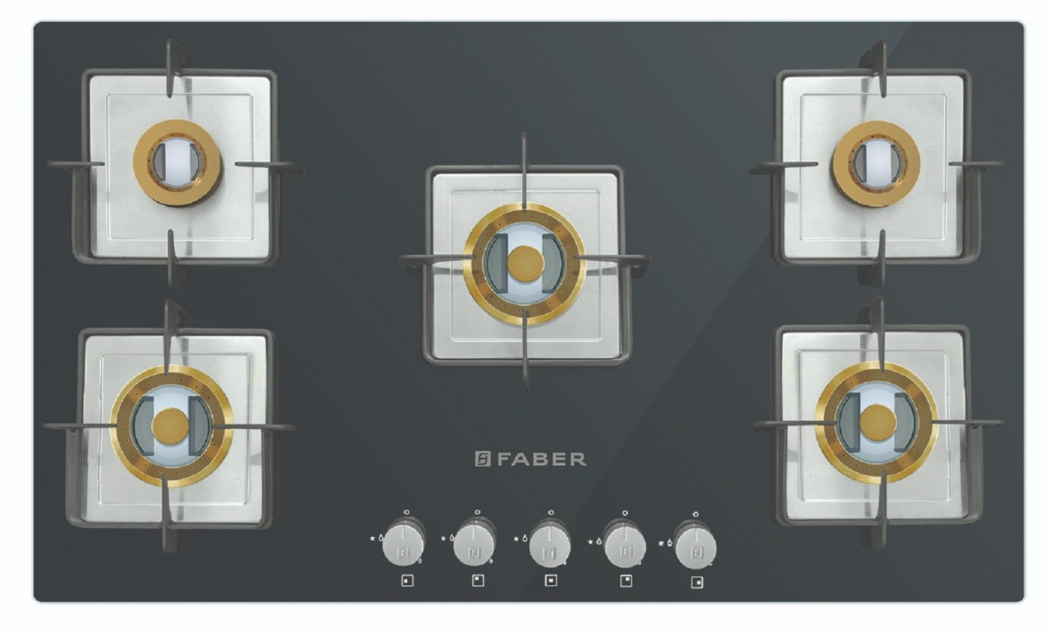 Faber Stainless steel Built- In-Hob HTG 905 CRS BR CI by HomeTown