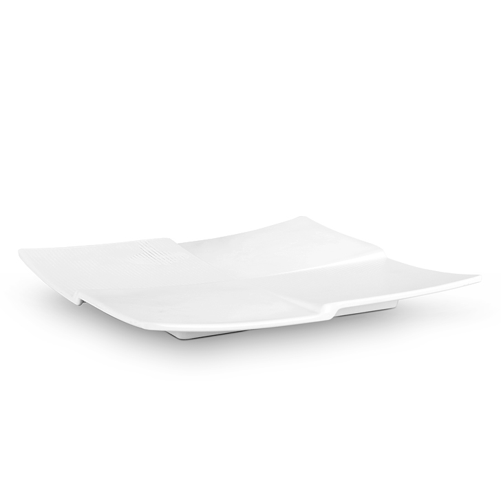 Quadra White Platter Small