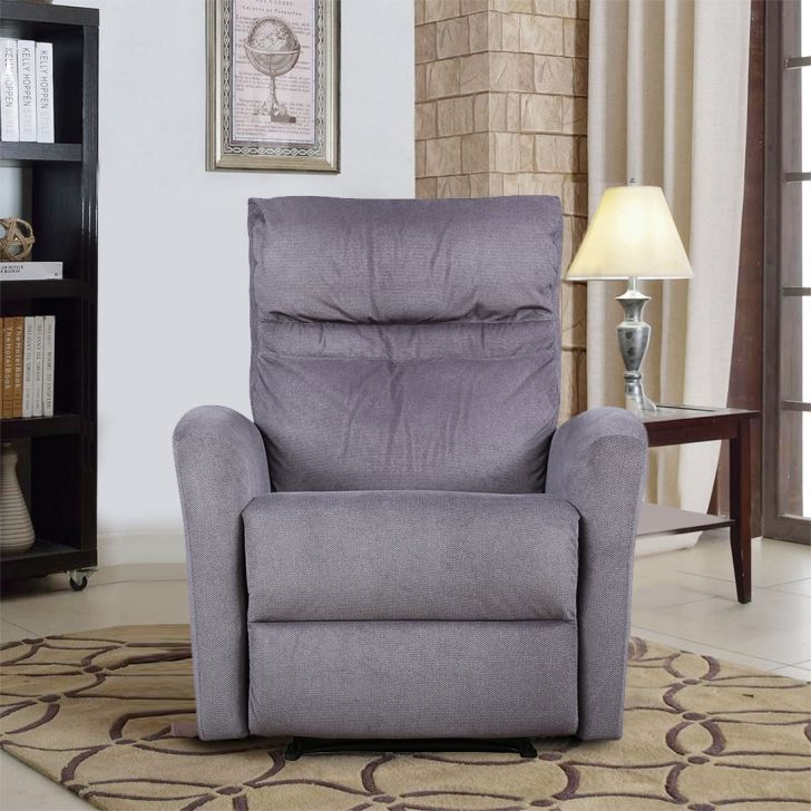 Ontario Fabric Single Seater Recliner in Expresso Colour by HomeTown