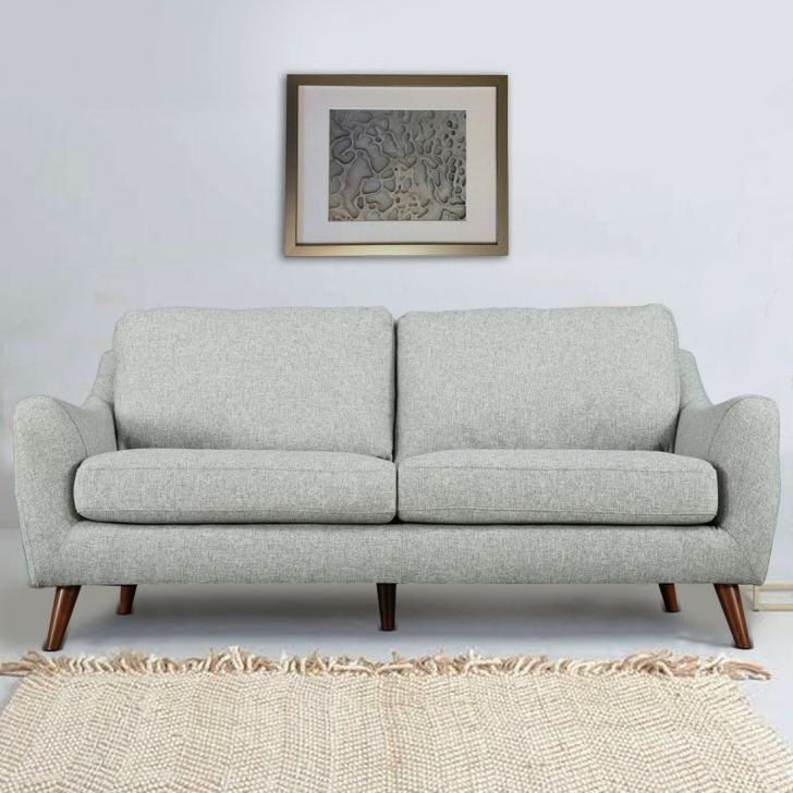 Vicenza Fabric Three Seater Sofa in Grey Colour by HomeTown