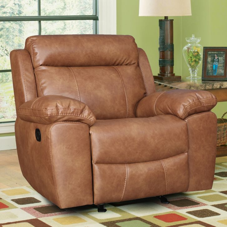 Barnes Pine Single Seater Recliner in Caramel Colour by HomeTown