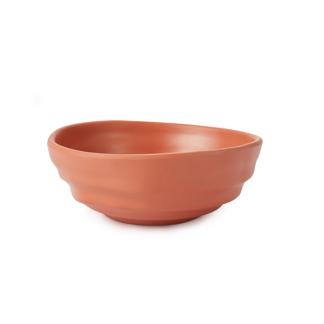Terracotta Open Serving Bowl Small Serving Bowls in Brown Colour by Living Essence