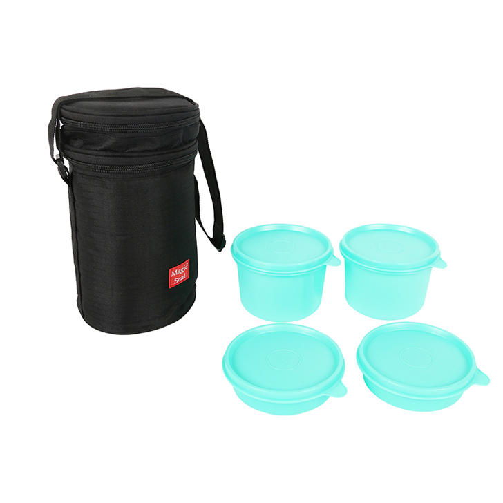 Magic Seal Premium Food Container with Pouch 4 Pcs Plastic by Polyset