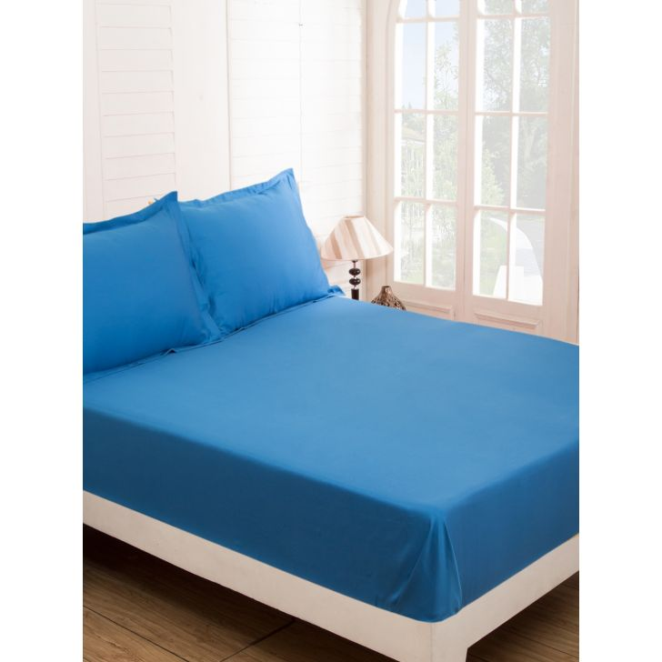 Maspar Cotton Bedsheet in Blue Colour by HomeTown