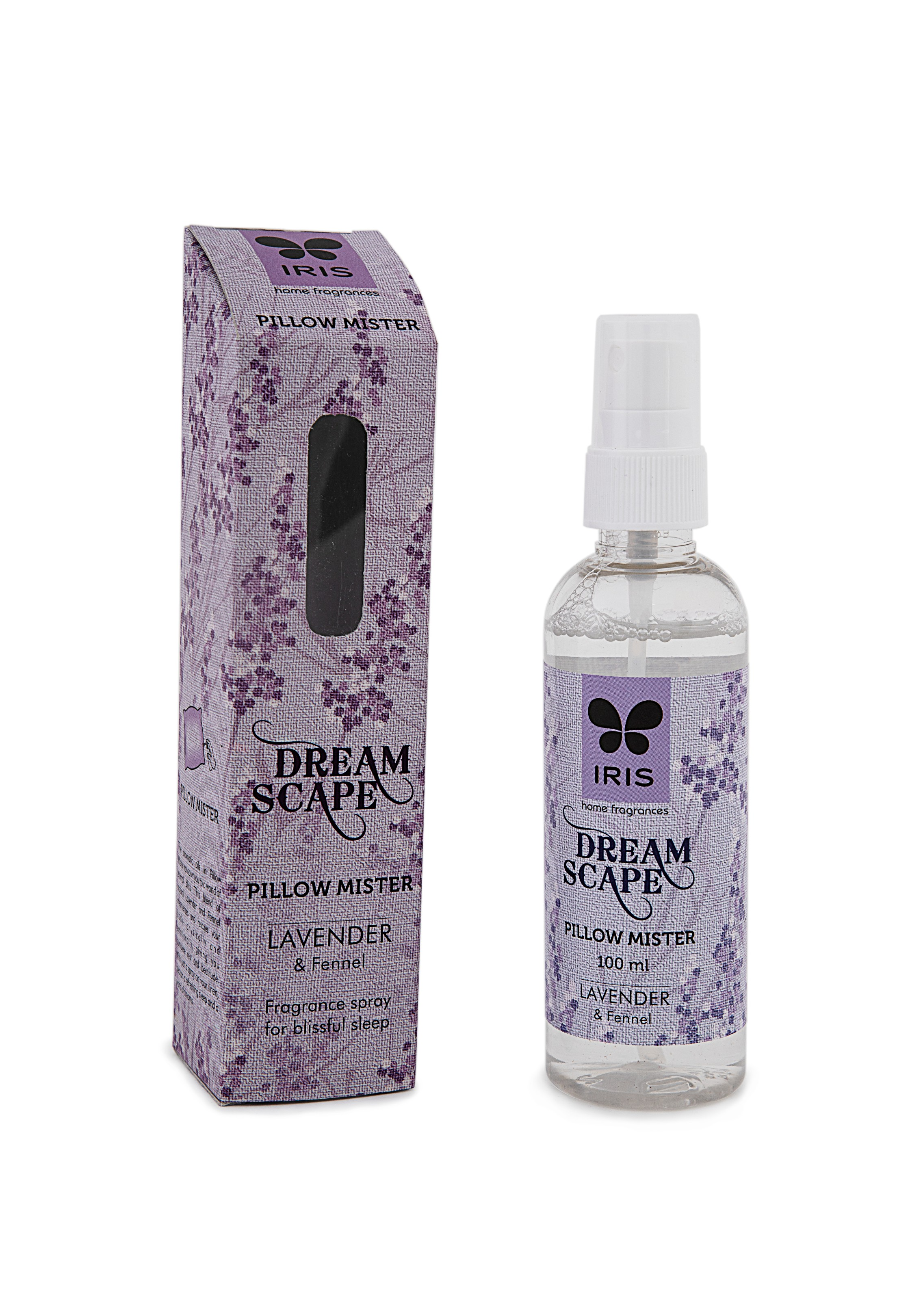 Iris Dream Scape Lavender & Fennel Pillow Mister Ceramic Scented Oil in Lavender Colour by HomeTown