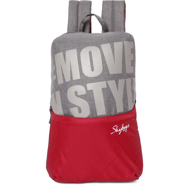 Casual Backpack Polyester Backpack in Red Colour by SKYBAGS