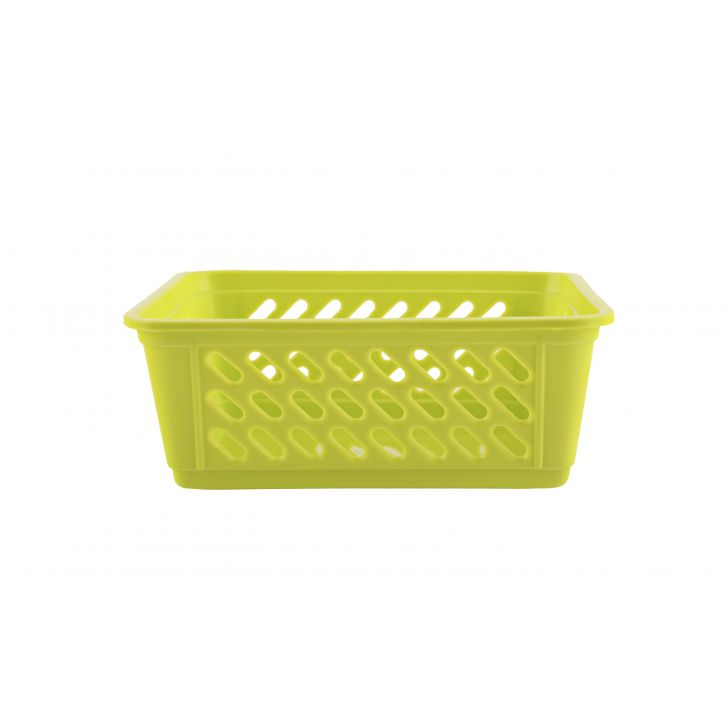 Sieve Multi Purpose Basket Plastic Kitchen Organizers in Green Colour by Living Essence