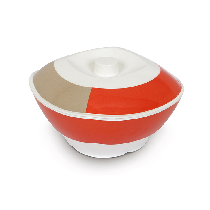 Melamine Serving Bowl Red And White Food Grade Melamine Serving Bowls in Red & White Colour by Living Essence