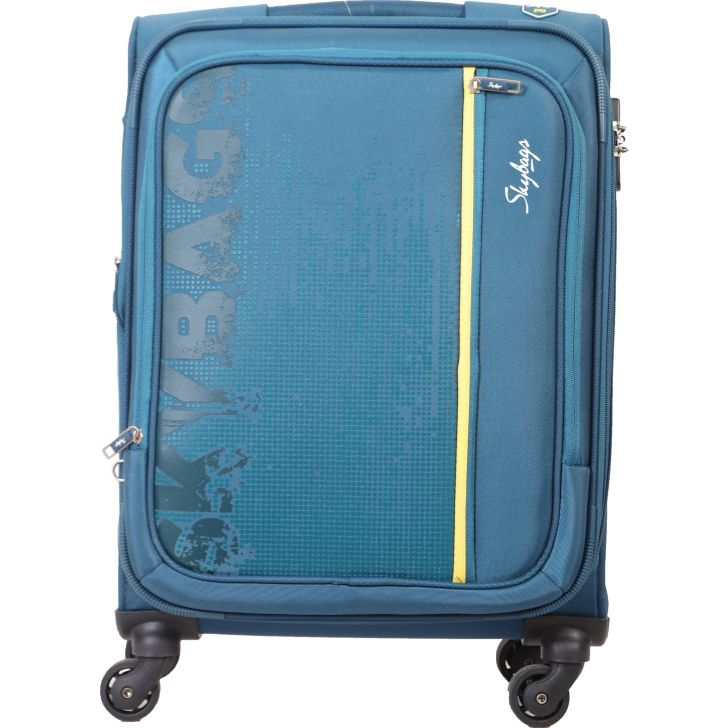 Skybags Zillion Spinner 58 CM Soft Trolley (Navy Blue)