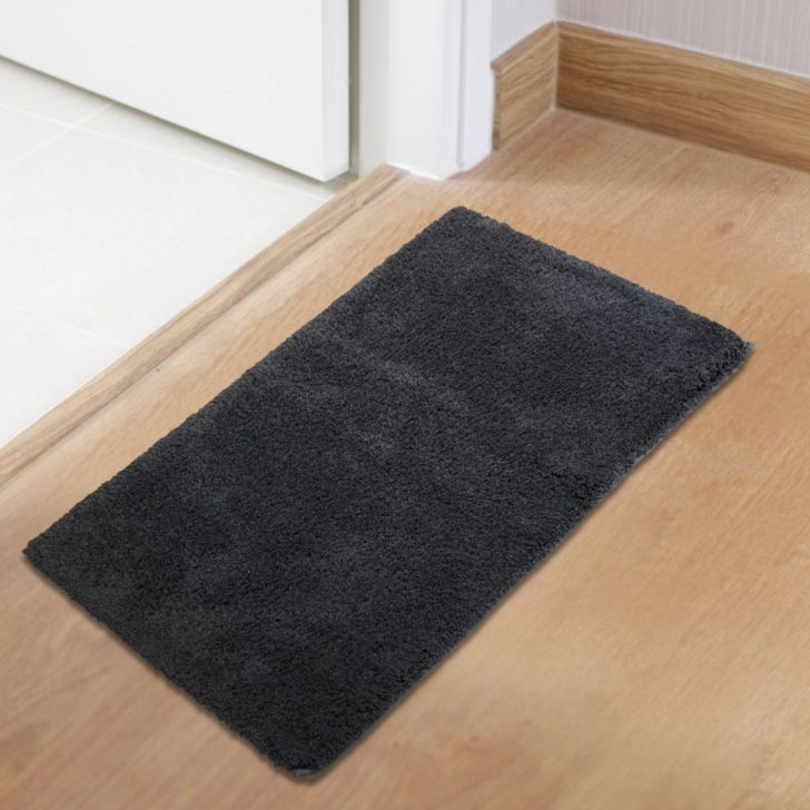 Spaces Polyester Bath Mat in Grey Pewter Colour by Spaces
