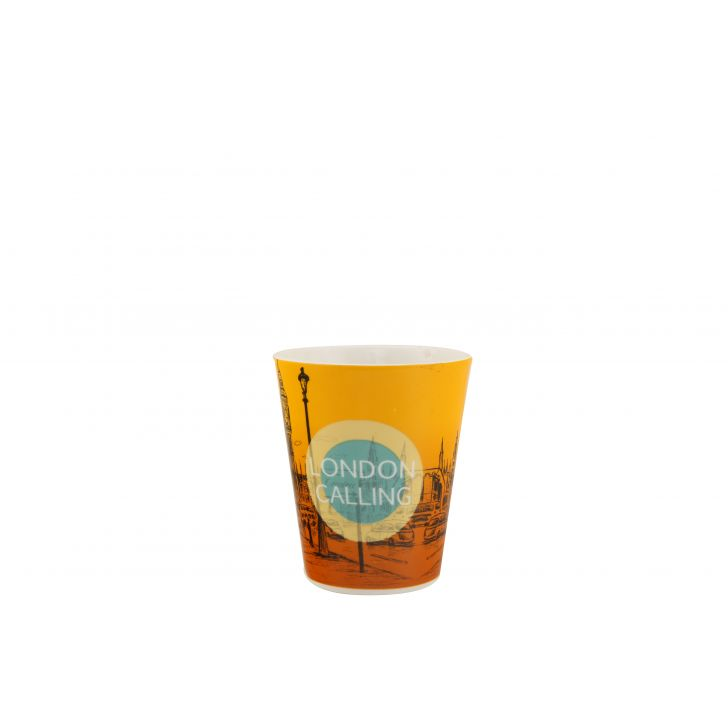 London Calling Sing Mug Ceramic Coffee Mugs in Orange &Teal Colour by HomeTown
