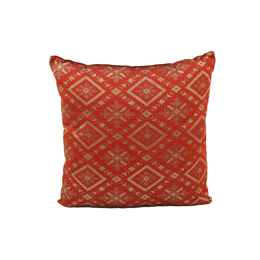 Miraya Rust Gold Polyester Filled Cushions in Rust Gold Colour by Living Essence