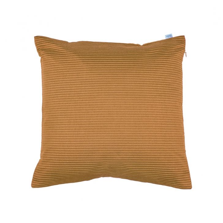Pin Stripe Cushion Cover 40X40 Cm Beige Polyester Cushion Covers in Beige Colour by Living Essence