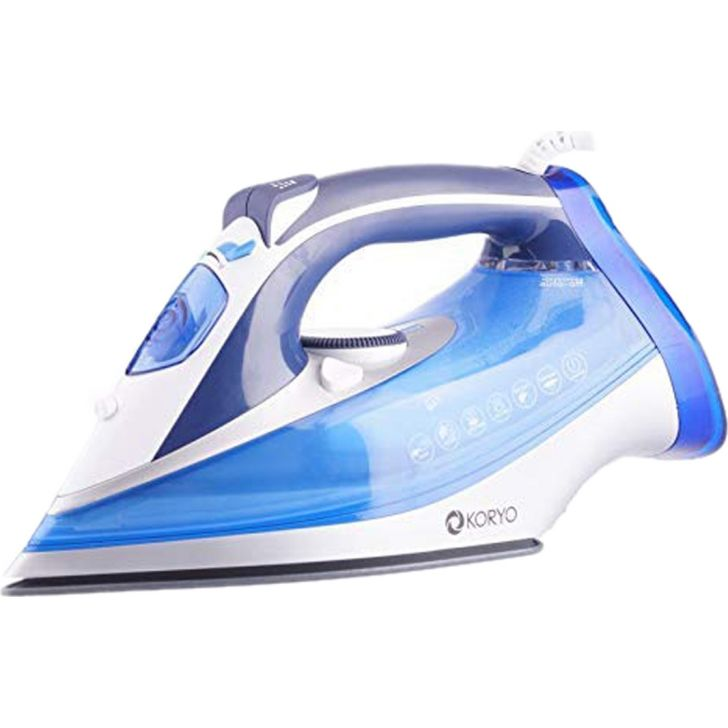 Vertical Steam Iron With Self Clean Technology (2000 W) - Blue by Koryo
