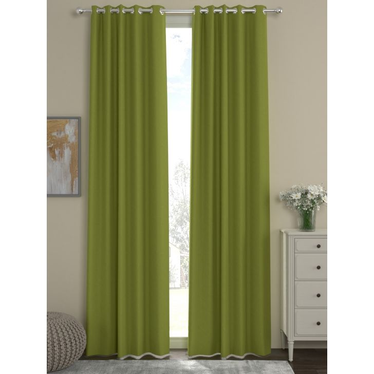 Rosara Home Polyester Curtain in Green Colour