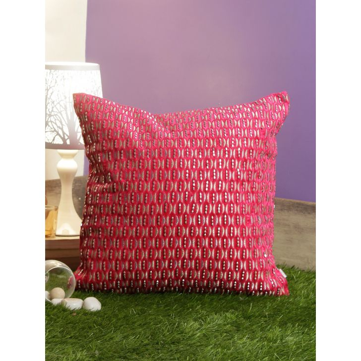 Miguel Cushion Covers in Fuschia Colour by Living Essence