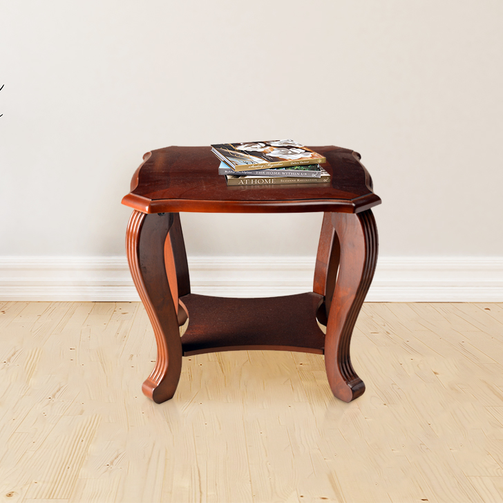 Liana Solid Wood End Table in Brown Colour by HomeTown