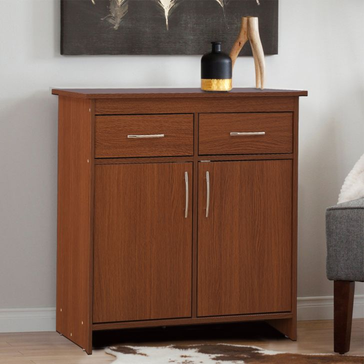 Albert Engineered Wood Storage Cabinet in Oak Colour by HomeTown