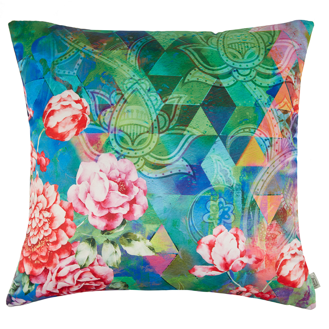 Digital Cushion Cover Lotus Stripe Cushion Covers in Poly Satin Colour by Living Essence